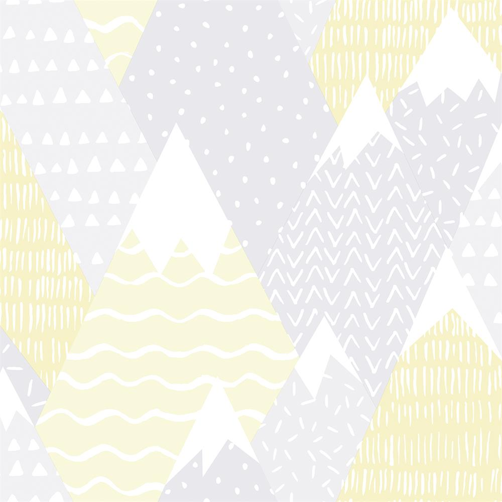 Picture of Mountains Yellow Wallpaper