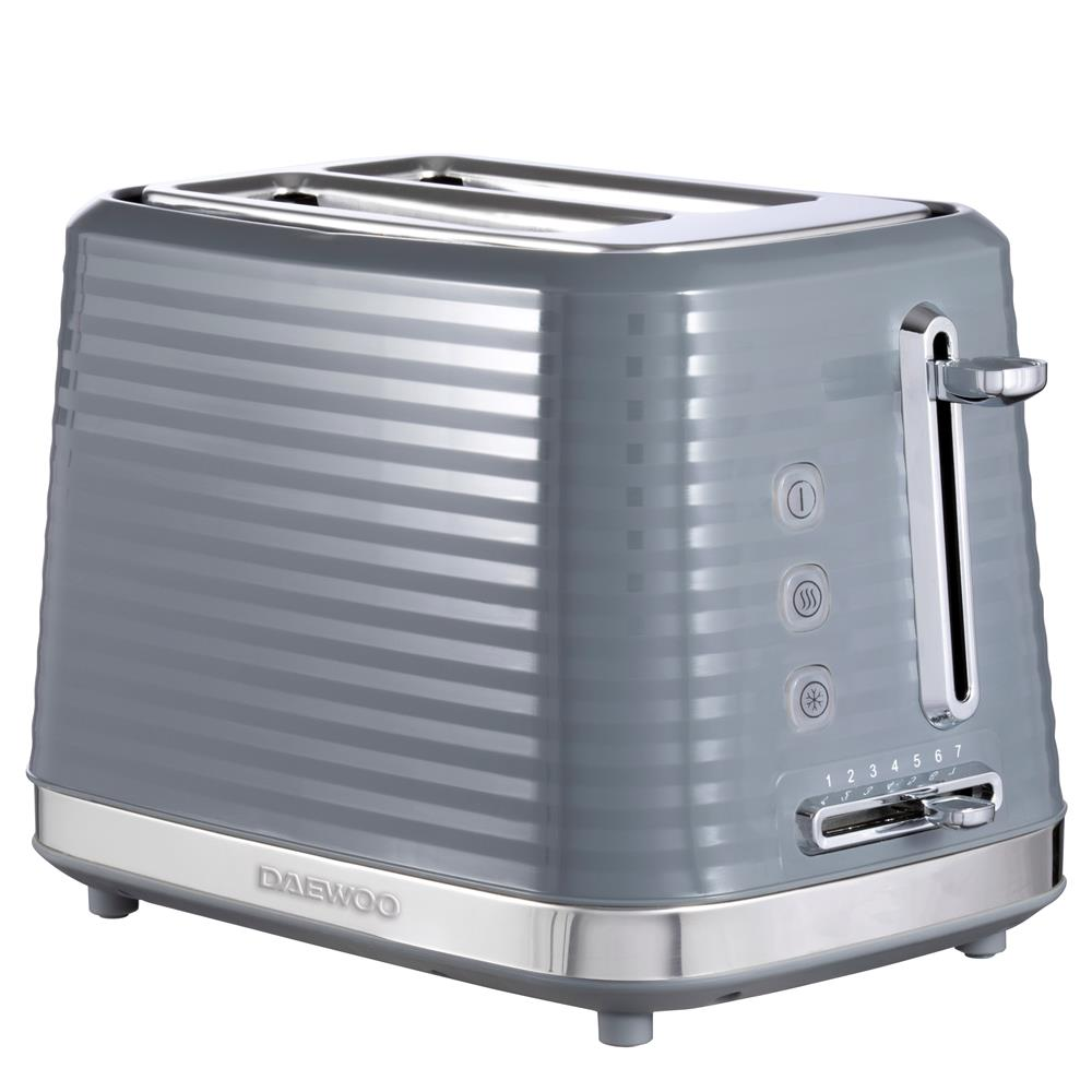 Picture of Daewoo 2 Sliced Textured Toaster Grey