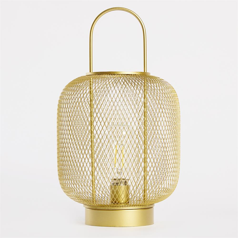 Picture of Home Collections: Gold Mesh LED Lantern