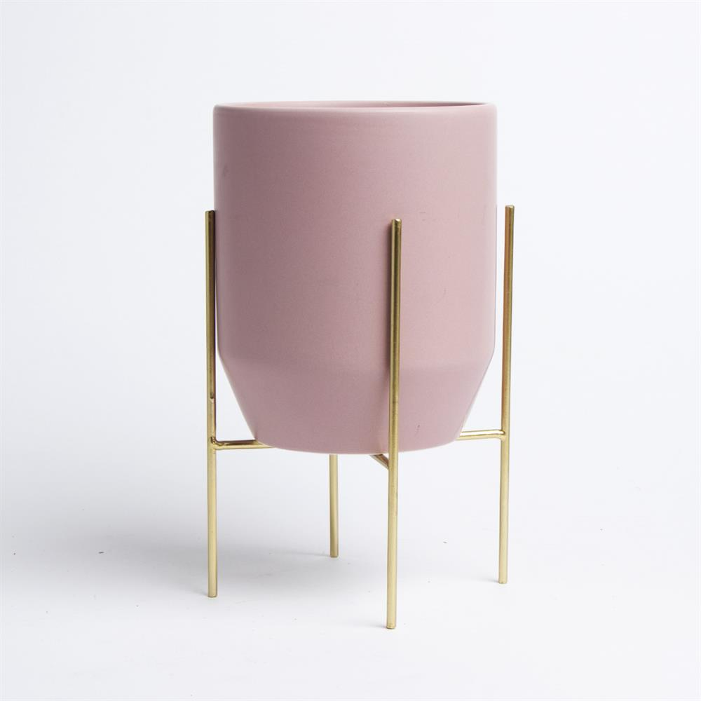 Picture of Home Collections: Ceramic Pot With Stand - Pink