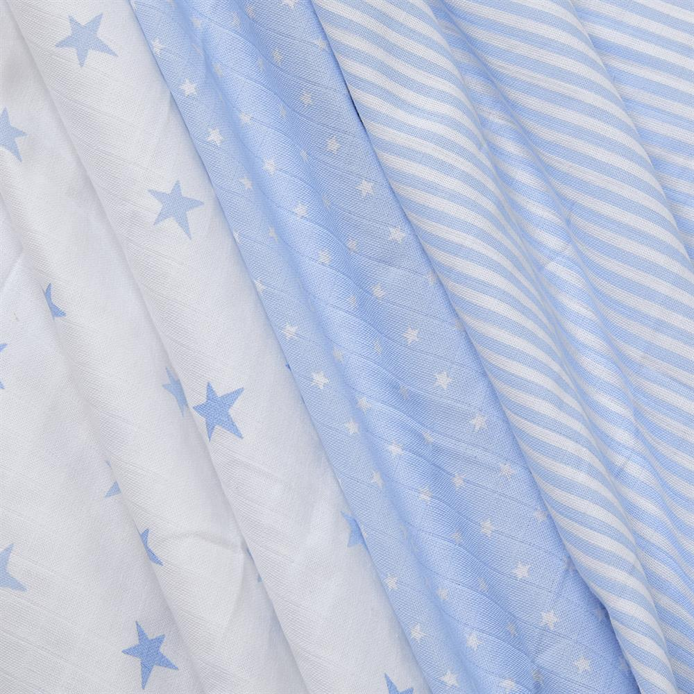 Picture of Pure Baby: Muslin Cloth 3 Pack - Blue