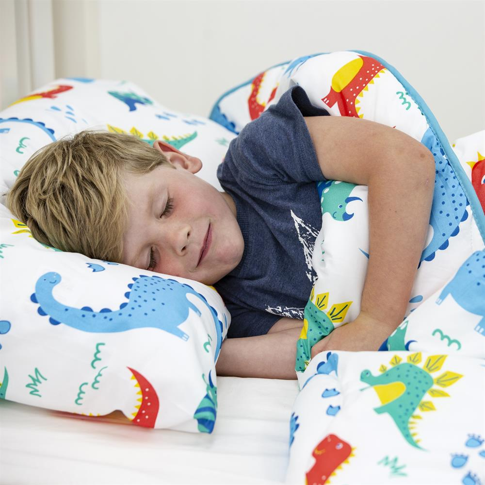 Picture of Dinosaur Reversible Coverless Carefree 4.5 Tog Single Bedding Set