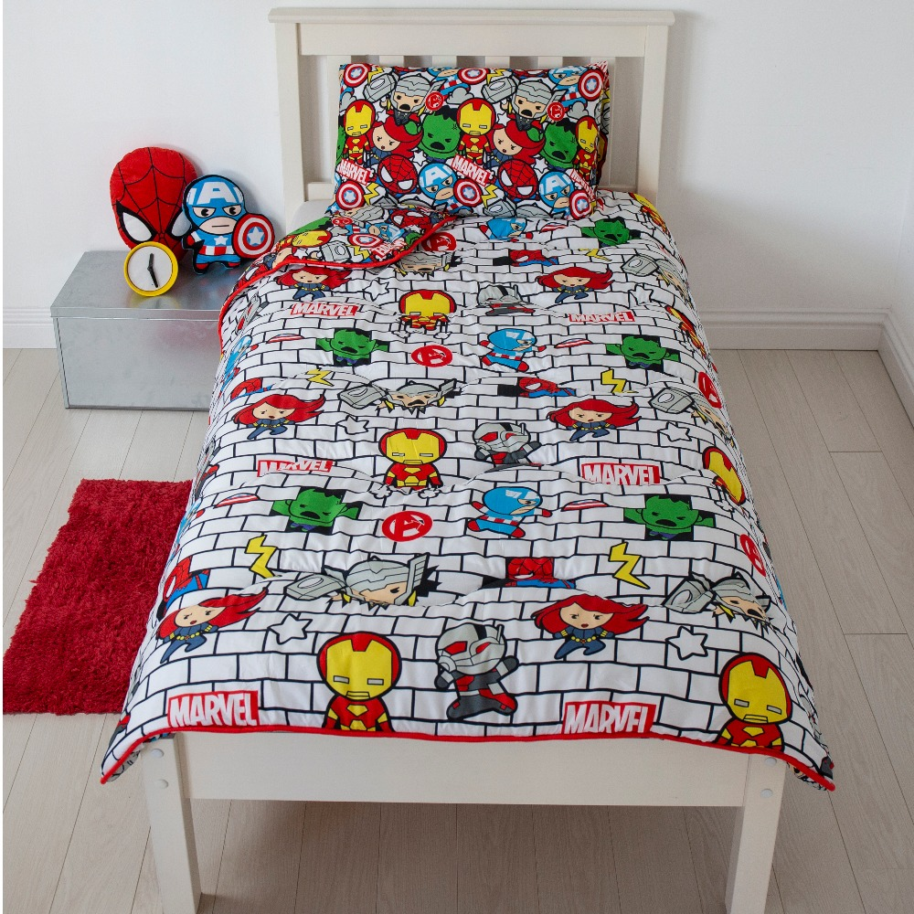 Picture of Marvel Kawaii Assemble Coverless Carefree Reversible Single 10.5 Tog Bedding Set