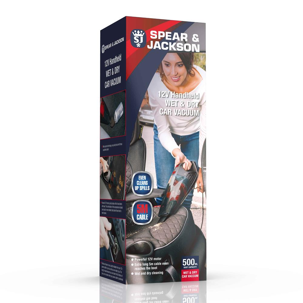 Picture of Spear & Jackson 12V Handheld Wet & Dry Car Vac