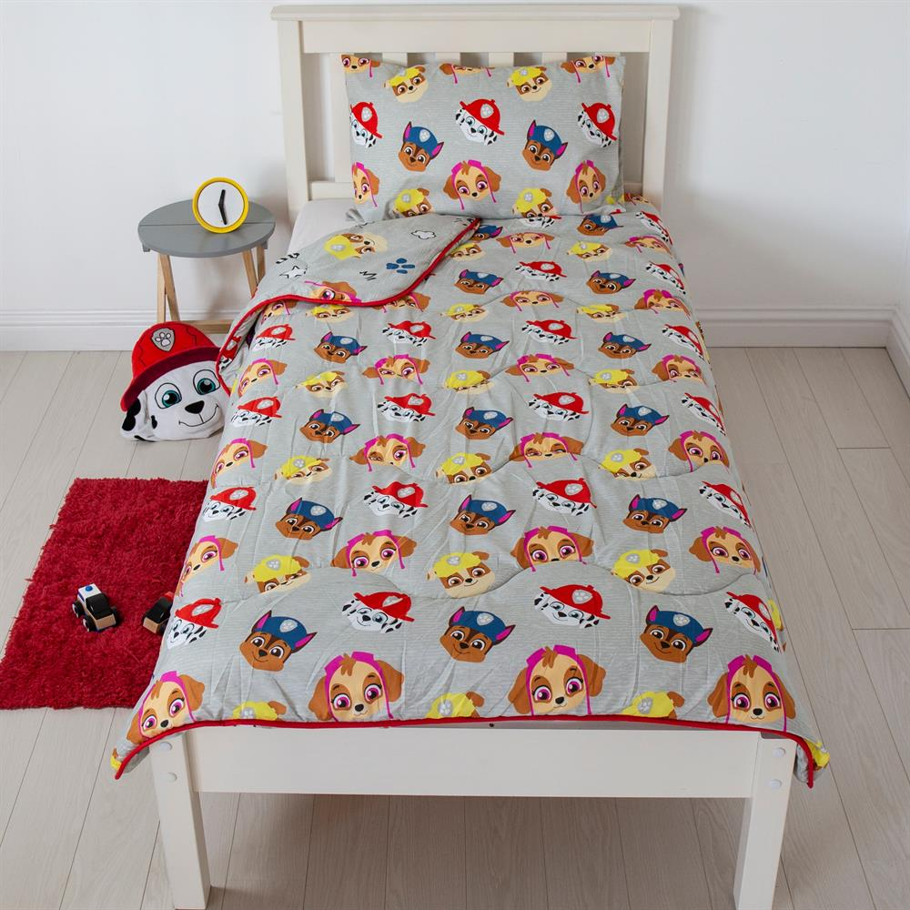 Picture of Paw Patrol Buddy Coverless Carefree Reversible Single 4.5 Tog Bedding Set