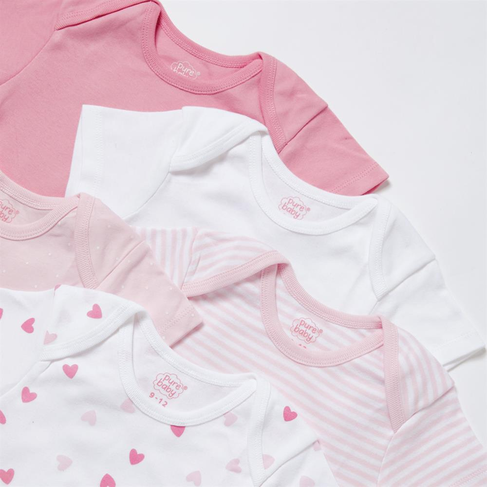 Picture of Pure Baby: Body Suit 5 Pack - Pink