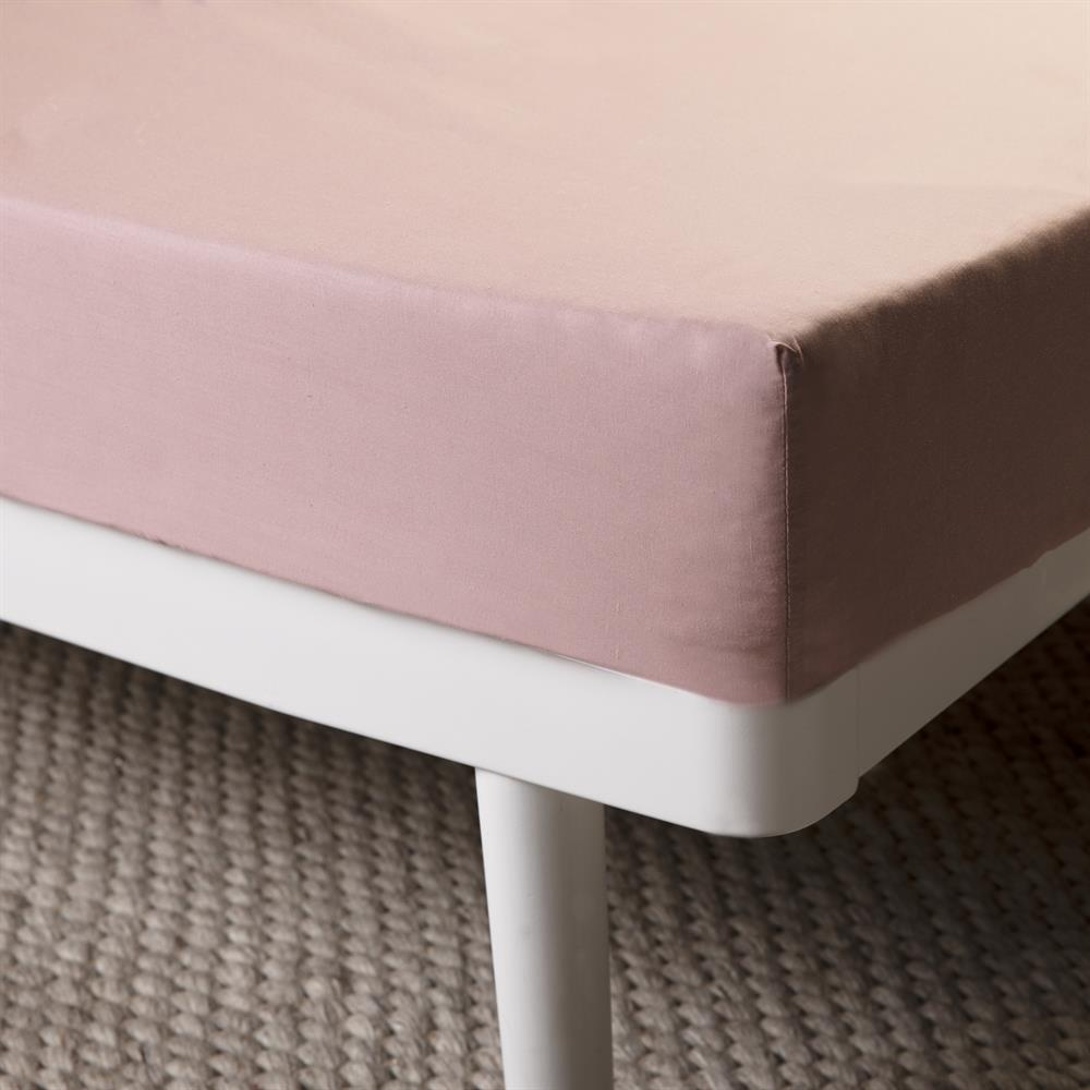 Picture of Home Collections Fitted Sheet - Blush Pink