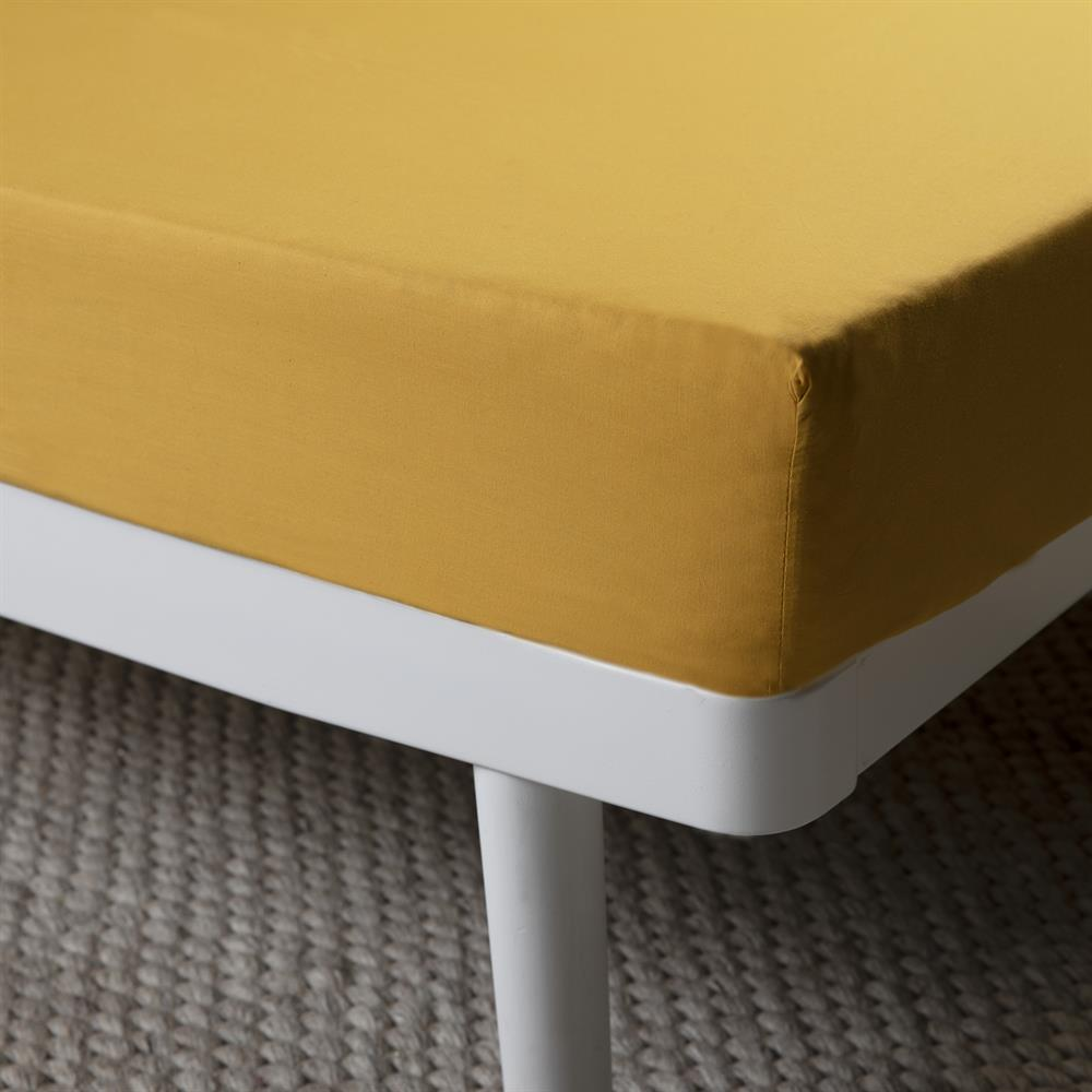 Picture of Home Collections Fitted Sheet - Ochre