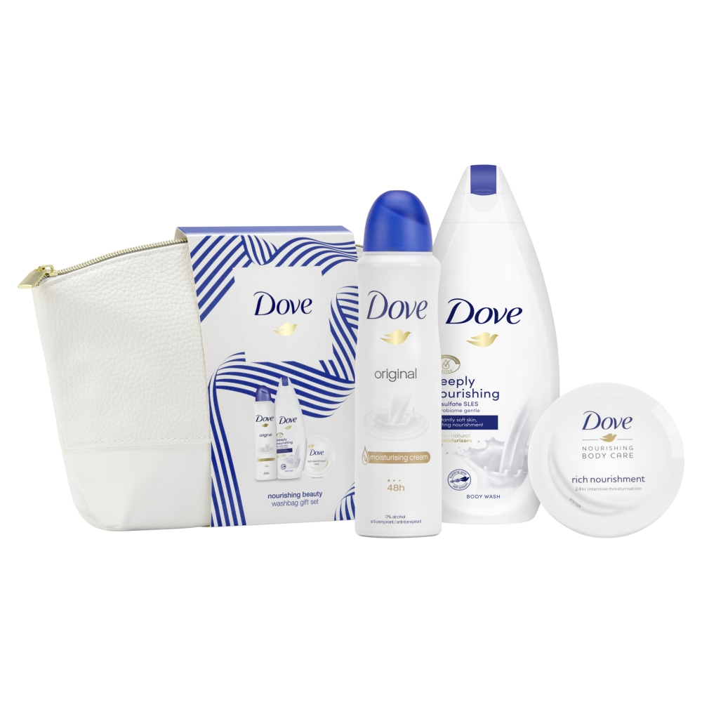 Picture of Dove Nourishing Beauty Wash Bag Gift Set 3 Piece