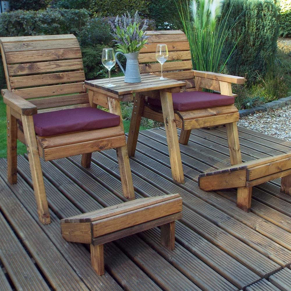Picture of Charles Taylor Wooden Deluxe Lounger Set Straight