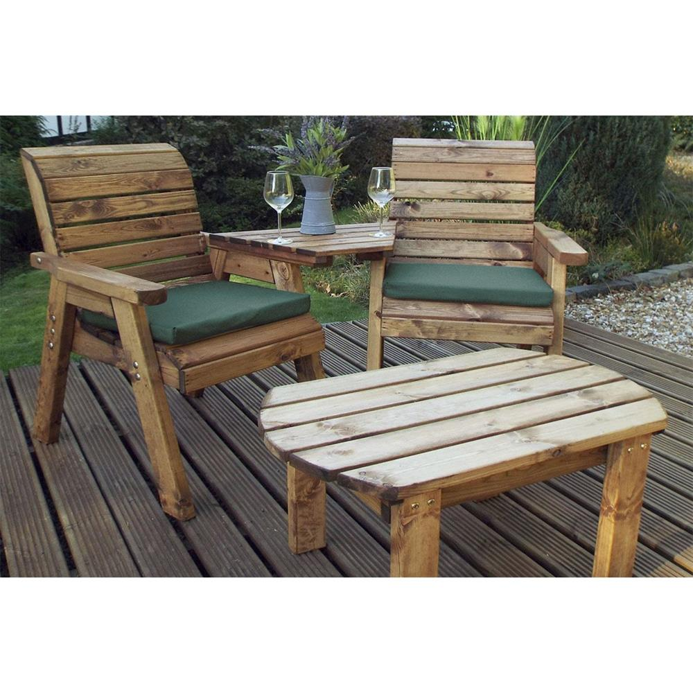 Picture of Charles Taylor Wooden Twin Companion Dining Set Angled