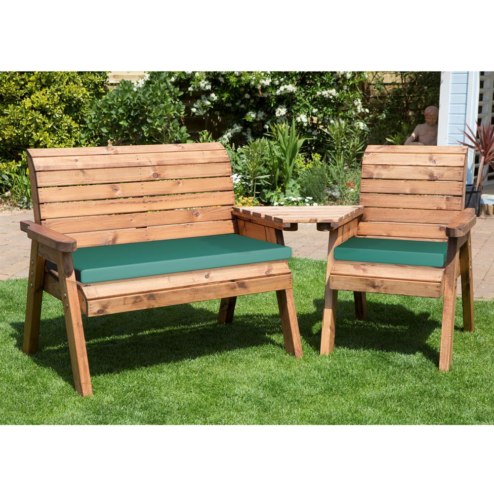 Picture of Charles Taylor: Three Seat Angled Companion Set with Cushions