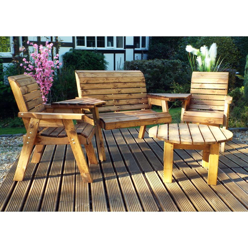Picture of Charles Taylor: Four Seat Round Set with Cushions
