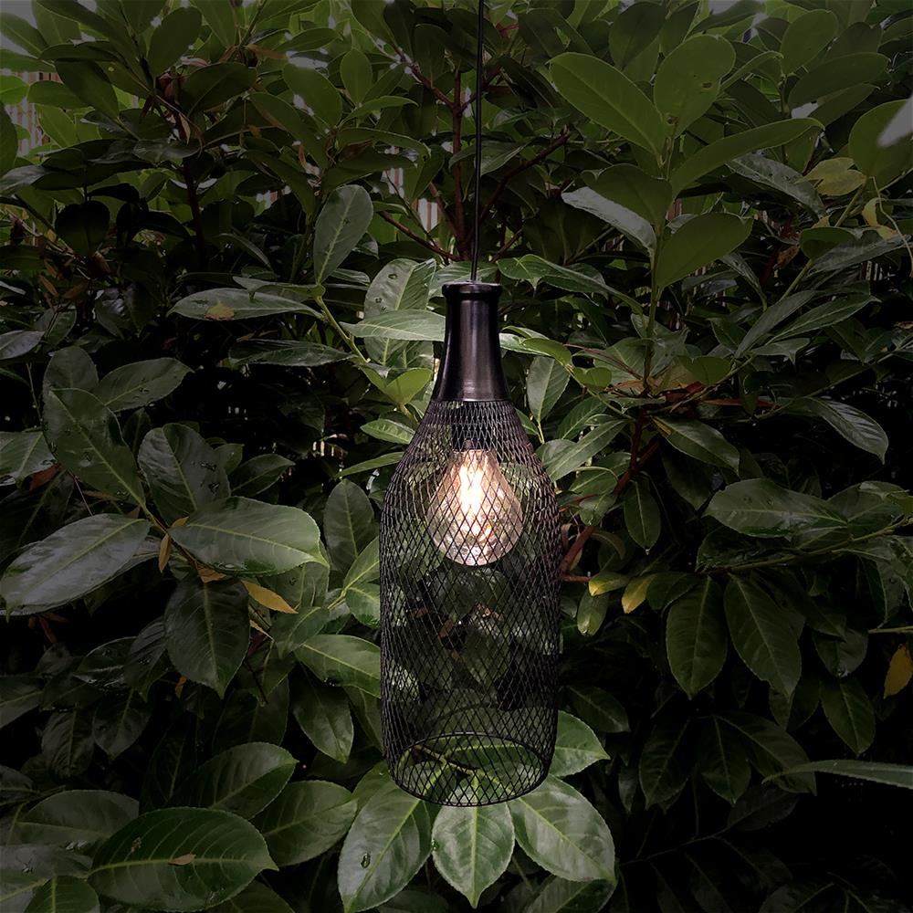 Picture of Firefly: 2 Hanging Metal Lamp Solar Lights