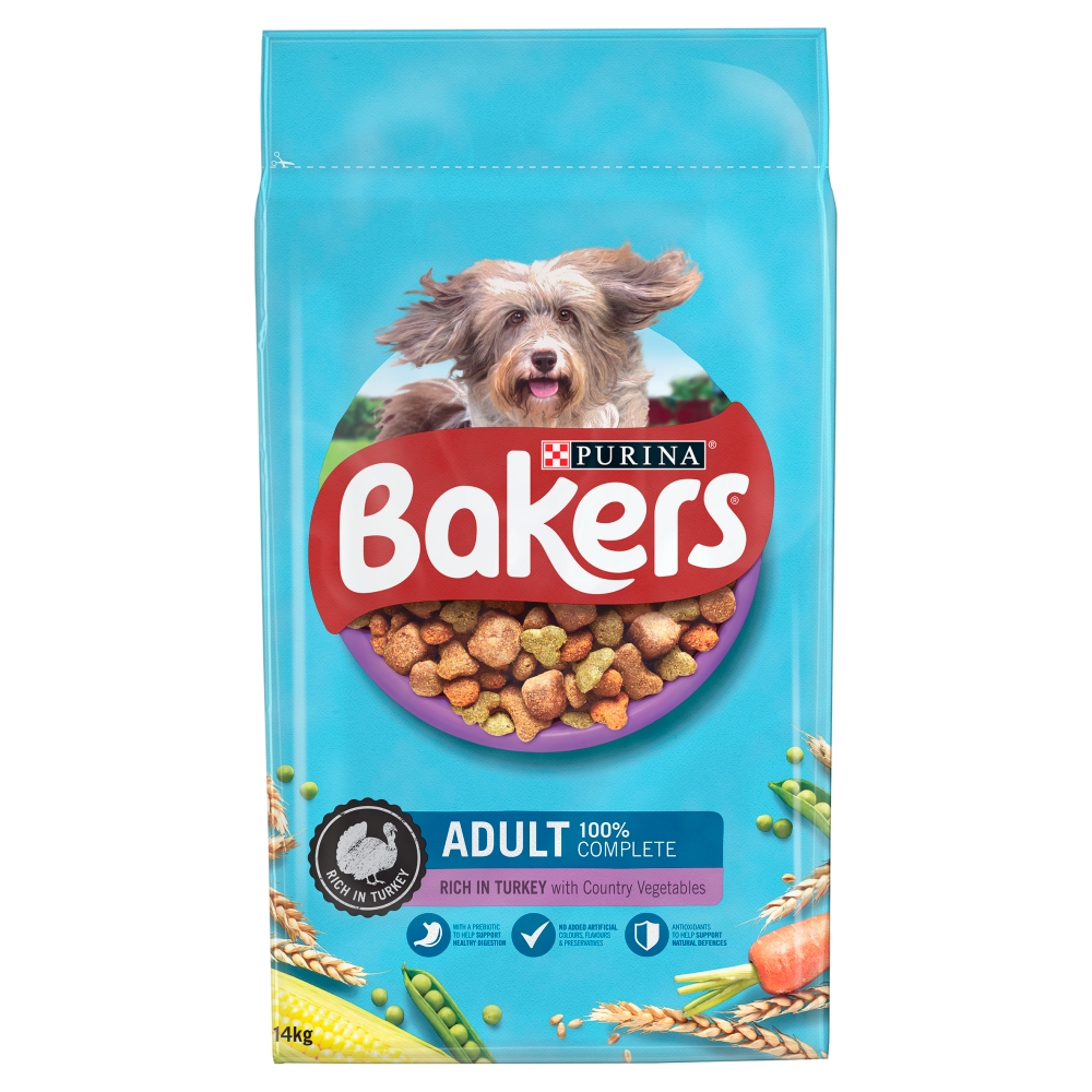 Picture of Bakers Adult Turkey with Wholegrains Dry Dog Food 14kg