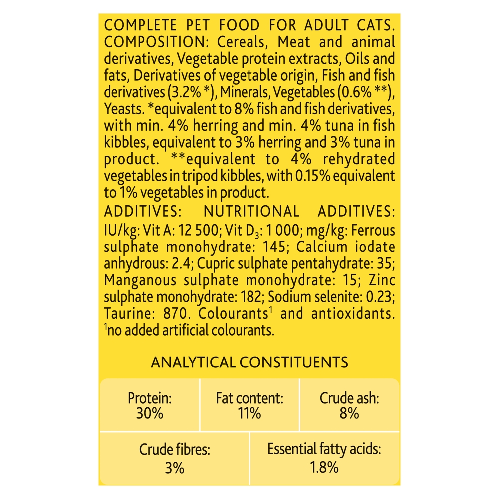 Picture of GO-CAT Adult with Herring & Tuna Dry Cat Food (Case of 5 x 825g)