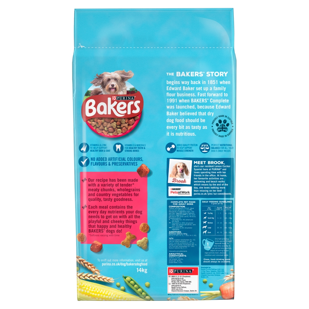 Picture of Bakers Adult Beef with Vegetables Dry Dog Food 14kg