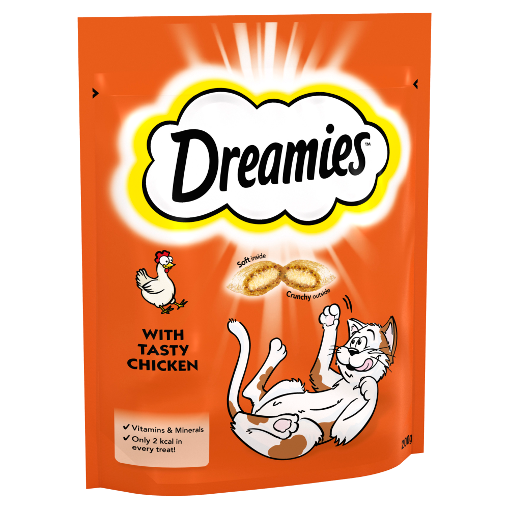 Picture of Dreamies Adult 1+ Cat Treats with Chicken Mega Pack 200g (6x)