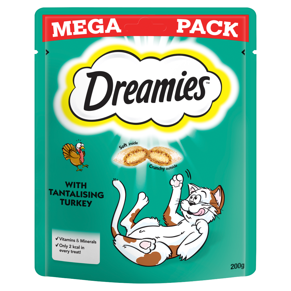 Picture of Dreamies Cat Treats Mega Pack with Turkey 200g (6x)