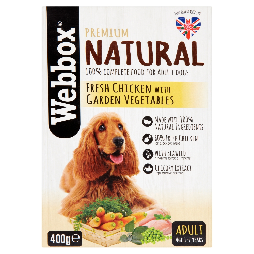 Picture of Webbox Premium Natural Fresh Chicken with Garden Vegetables Adult Age 1-7 Years (Case of 7 x 400g)