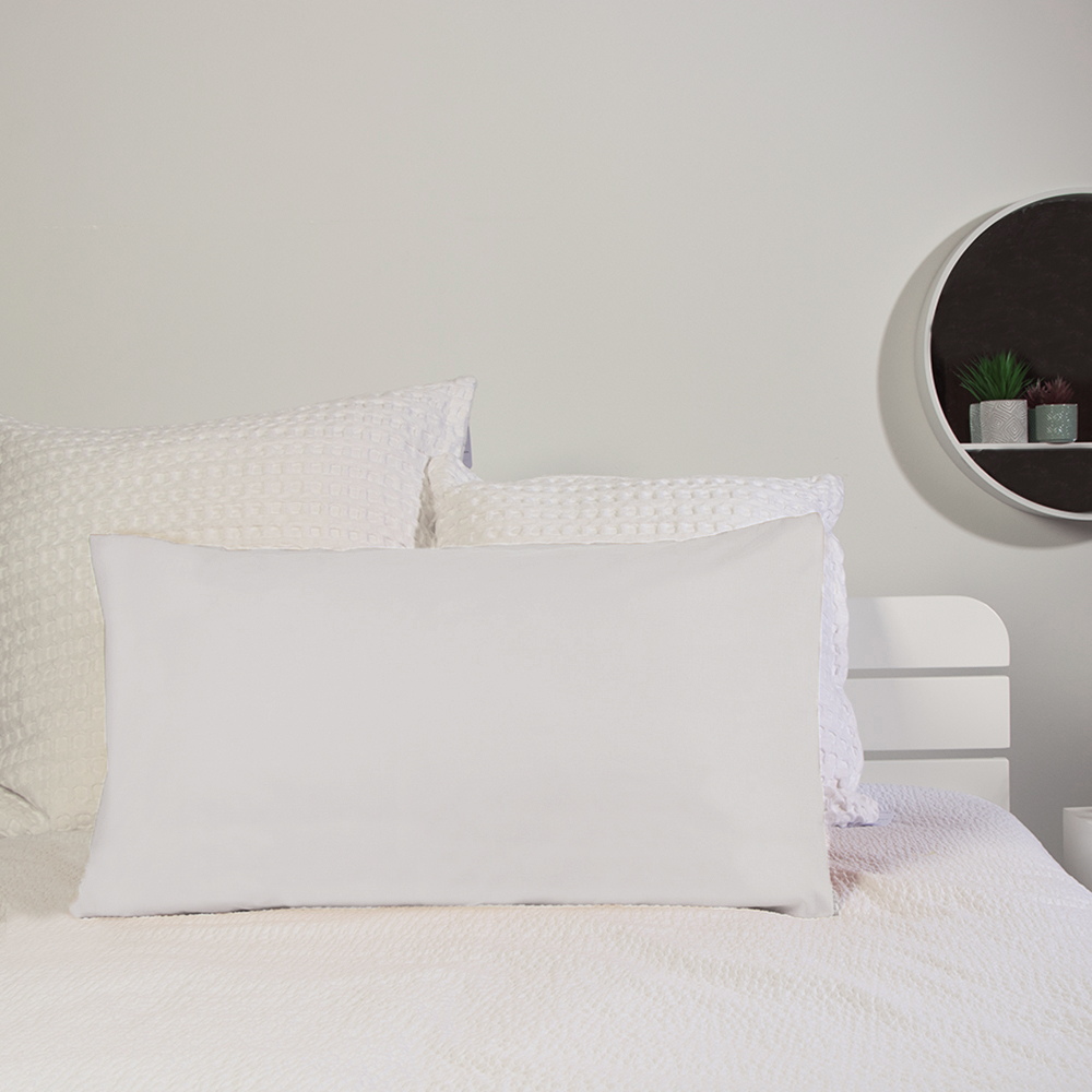 Picture of Home Collections: 2 Pack Pillowcase - White (2x)