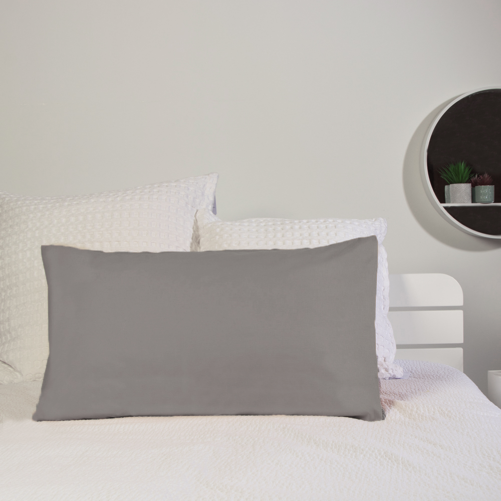 Picture of Home Collections: 2 Pack Pillowcase - Charcoal (2x)