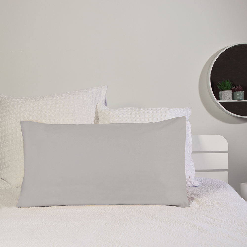 Picture of Home Collections: 2 Pack Pillowcase - Silver (2x)