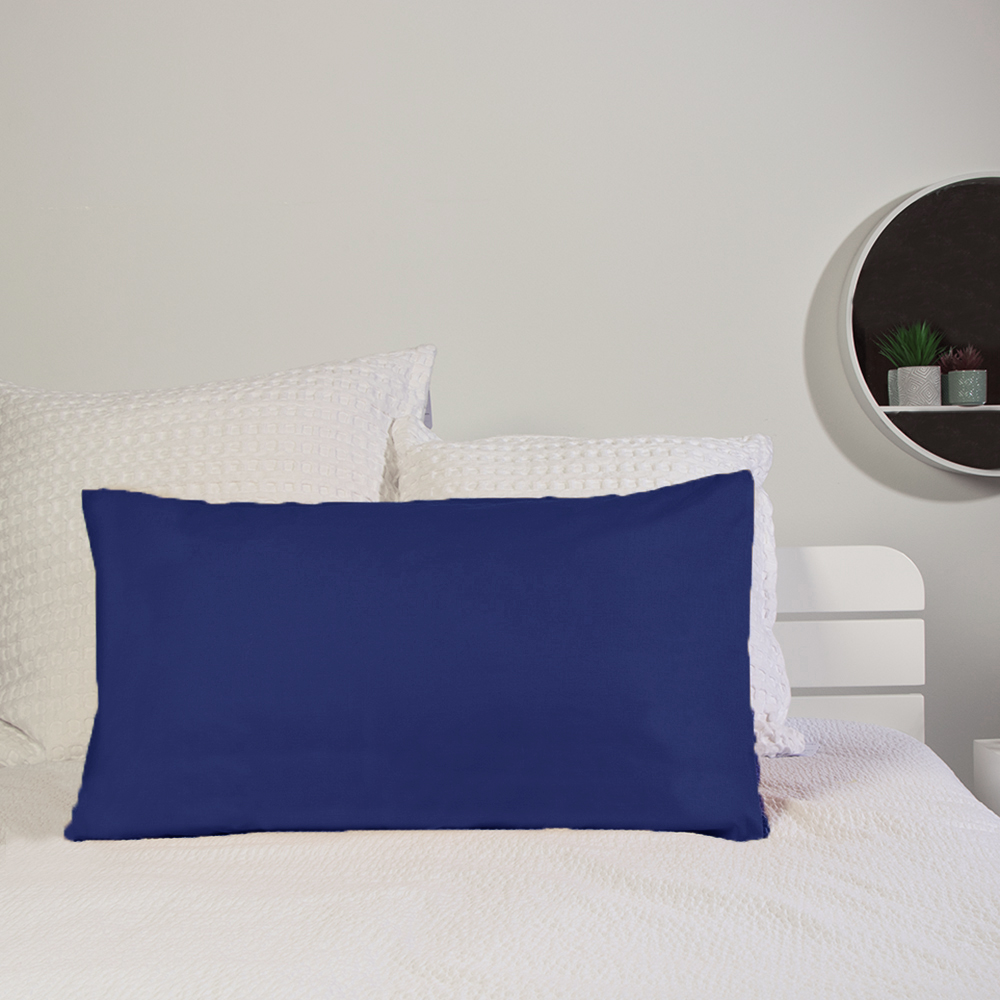 Picture of Home Collections: 2 Pack Pillowcase - Navy (2x)