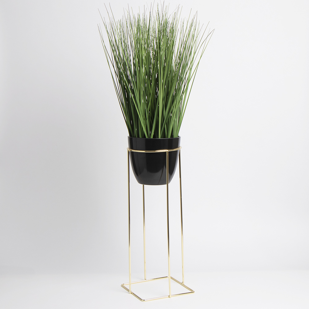 Picture of Ports of Call by Jeff Banks: Grass Pot In Stand - Black
