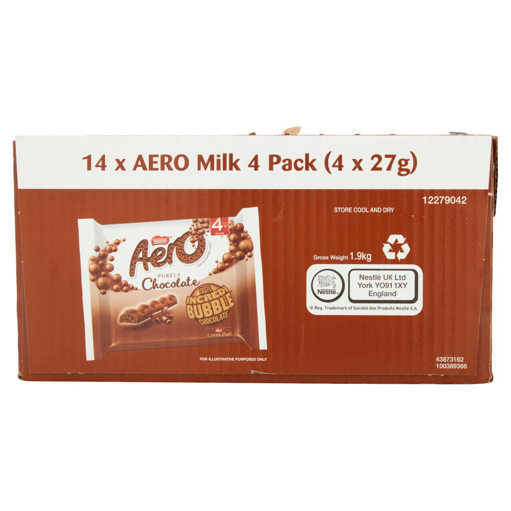 Picture of Aero Purely Chocolate Multipack 4 x 27g (14x)