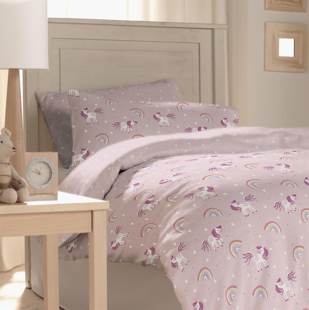 Picture of My Little Home: Kids Unicorn Printed Bedding