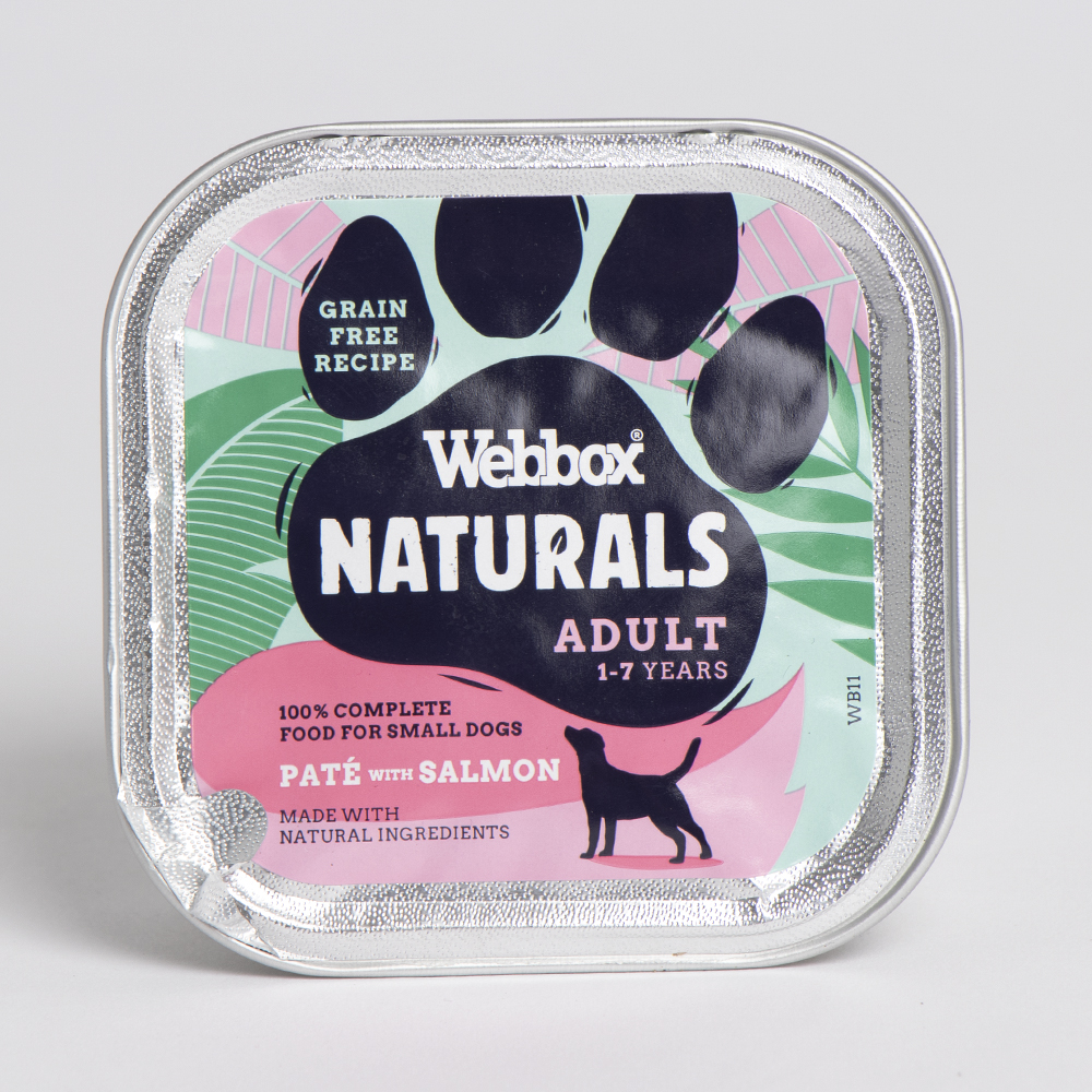 Picture of Webbox Premium Natural with Salmon Adult Age 1-7 Years (Case of 11 x 150g)
