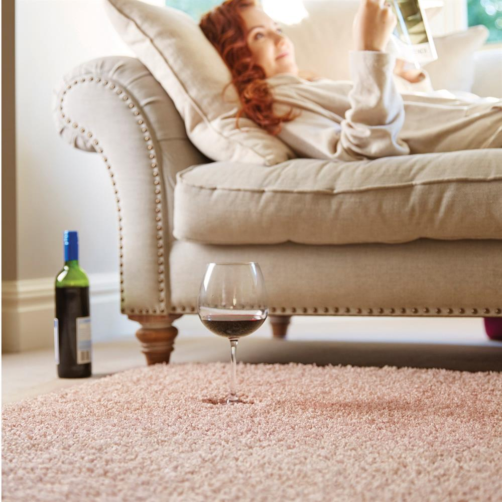 Picture of Home Collections Shaggy Washable Rug Nude Pink 100 x 150cm