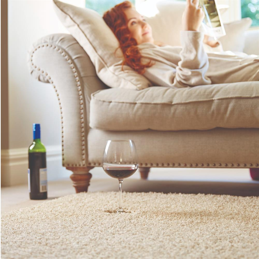 Picture of Home Collections Shaggy Washable  Rug Stone 140 x 200cm