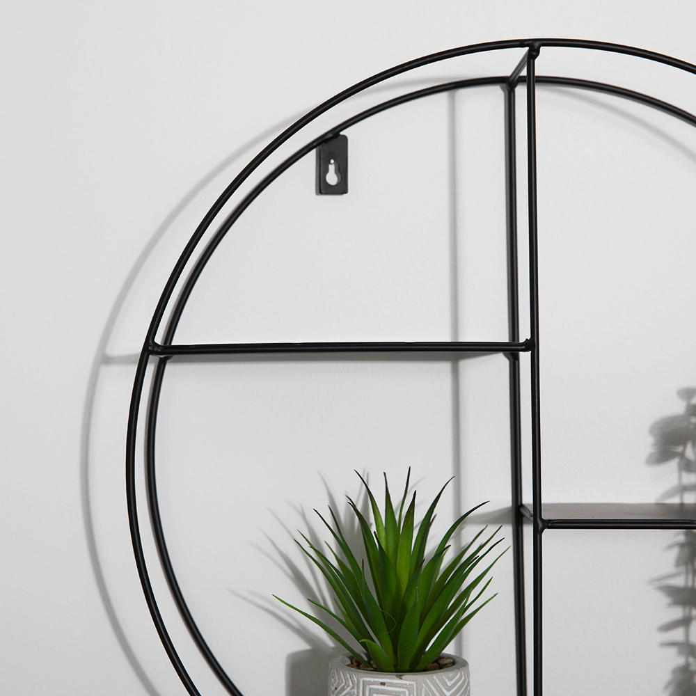 Picture of Home Collections: Black Circular Shelf
