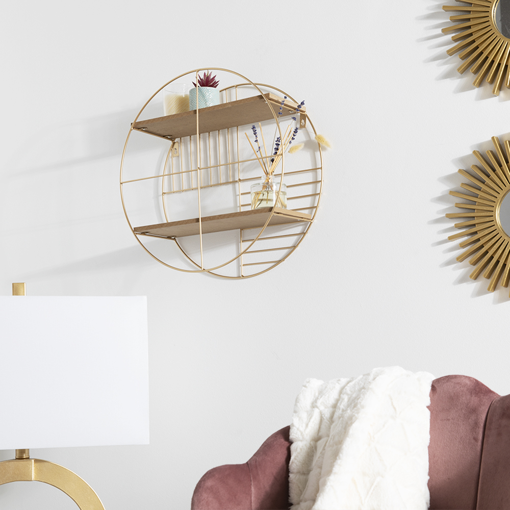 Picture of Home Collections: Gold Circular Shelf