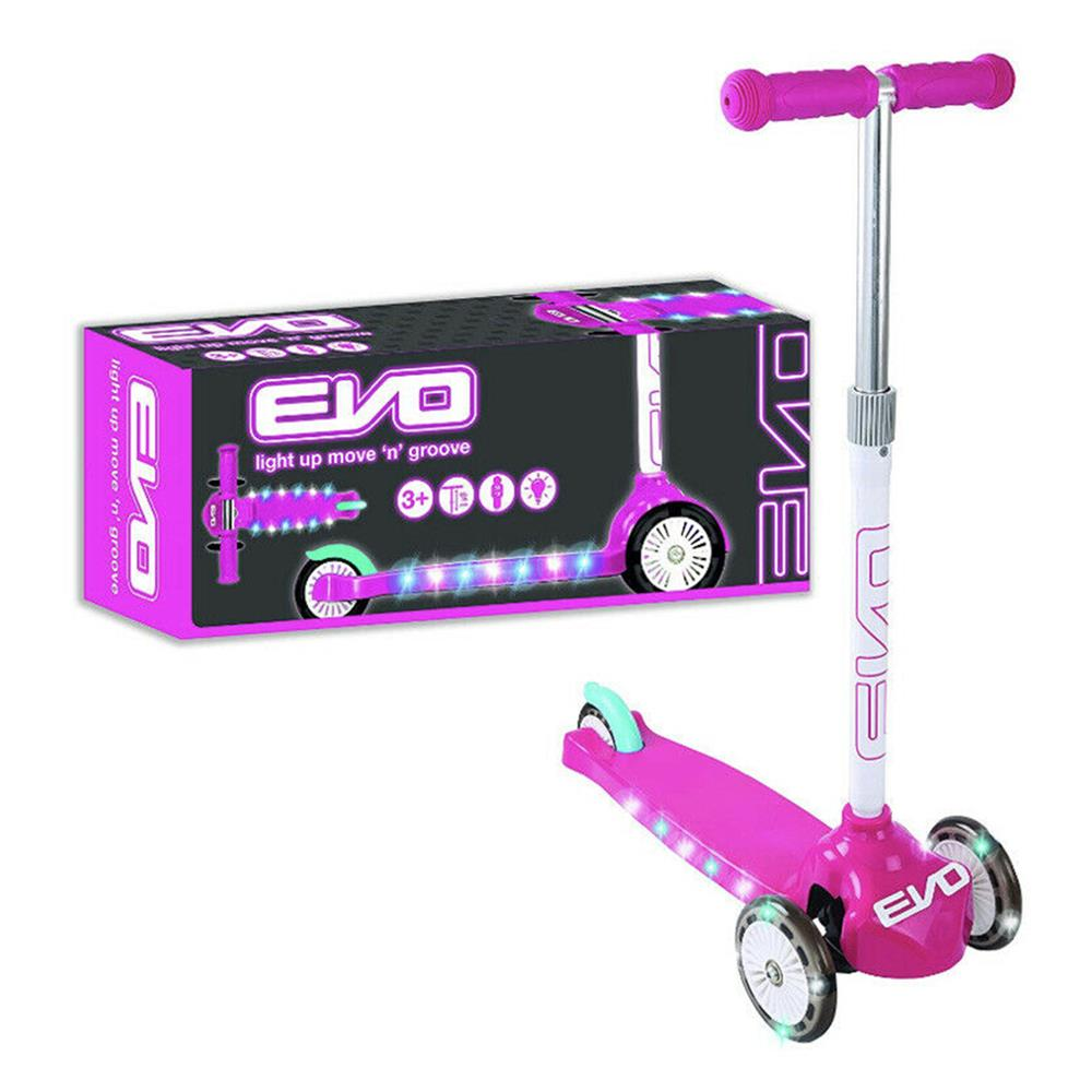 Picture of EVO: Light UP Move N Groove Scooter - Pink