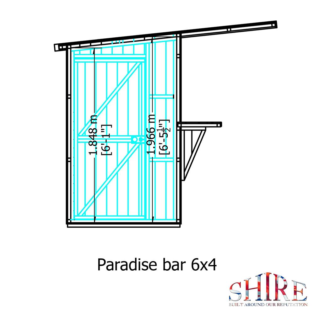 Picture of Shire 6x4 Paradise Garden Bar & Store