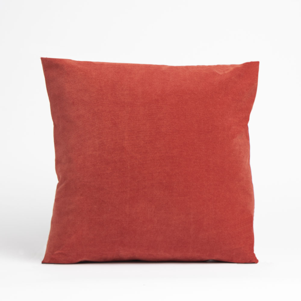 Picture of Home Collections: Medium Corduroy Cushion - Terracotta