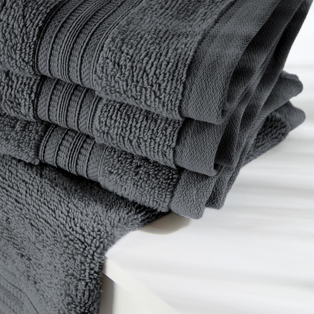 Picture of Home Collections: Luxury Face Cloth Three Pack - Charcoal