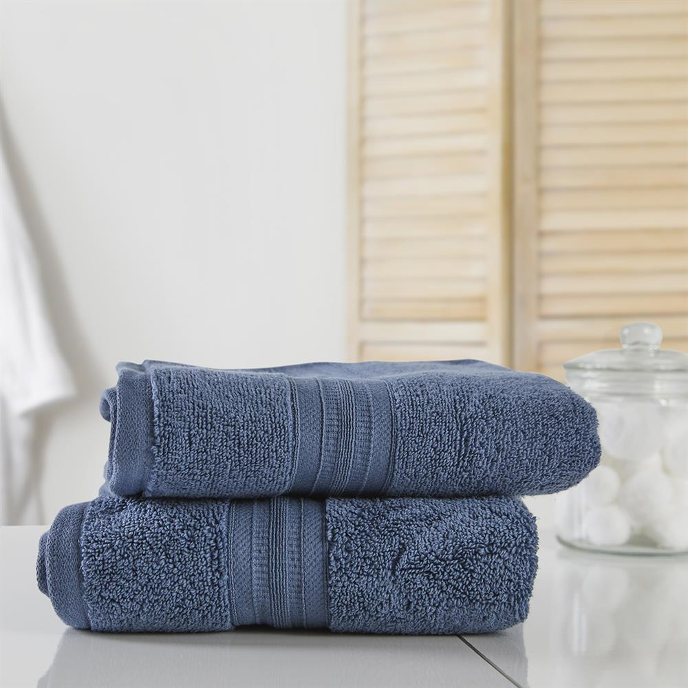 Picture of Home Collections: Luxury Hand Towel Two Pack - Blue