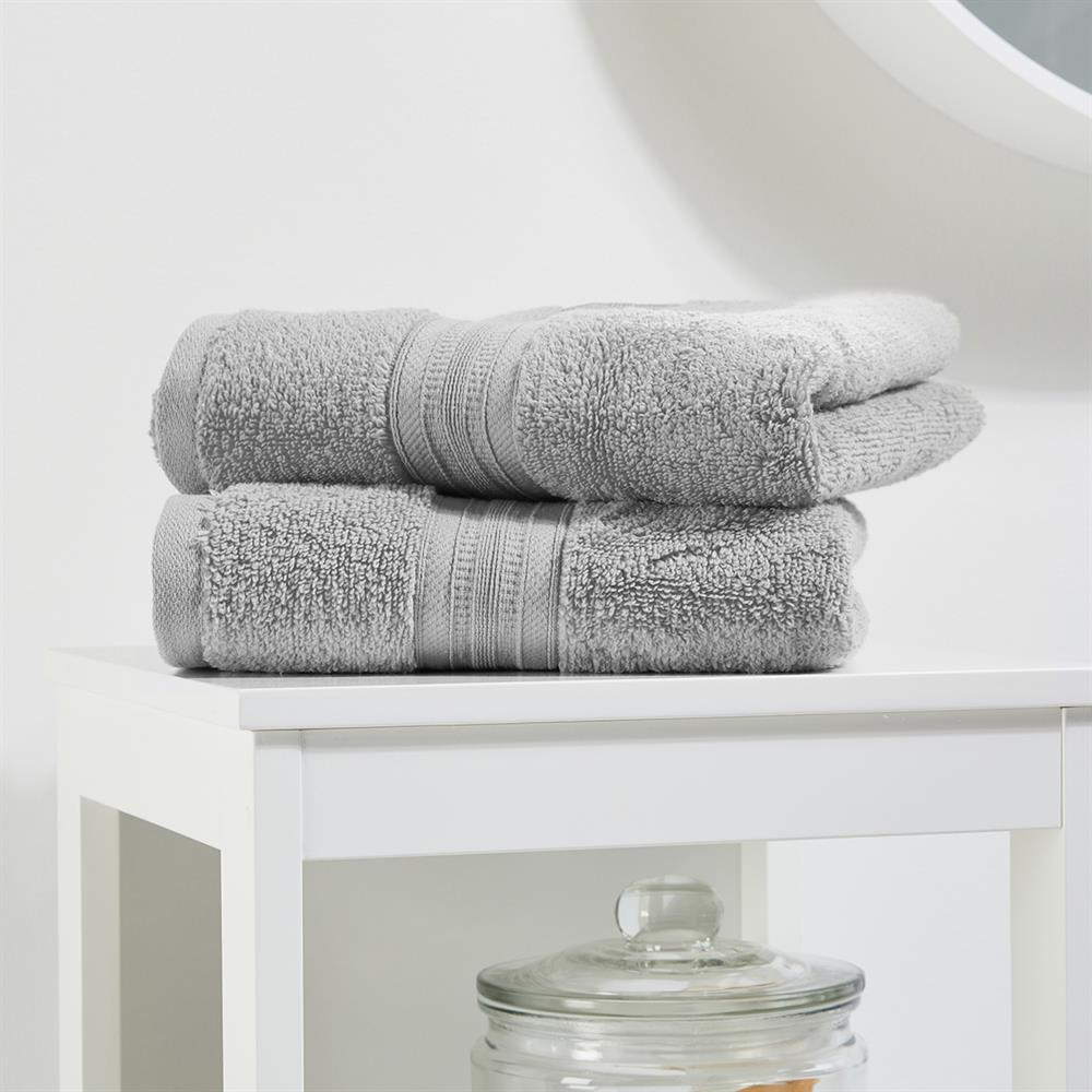 Picture of Home Collections: Luxury Hand Towel Two Pack - Silver