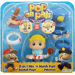 Buy Pop On Pals Baseball Player And Policeman Figurine Set At Home
