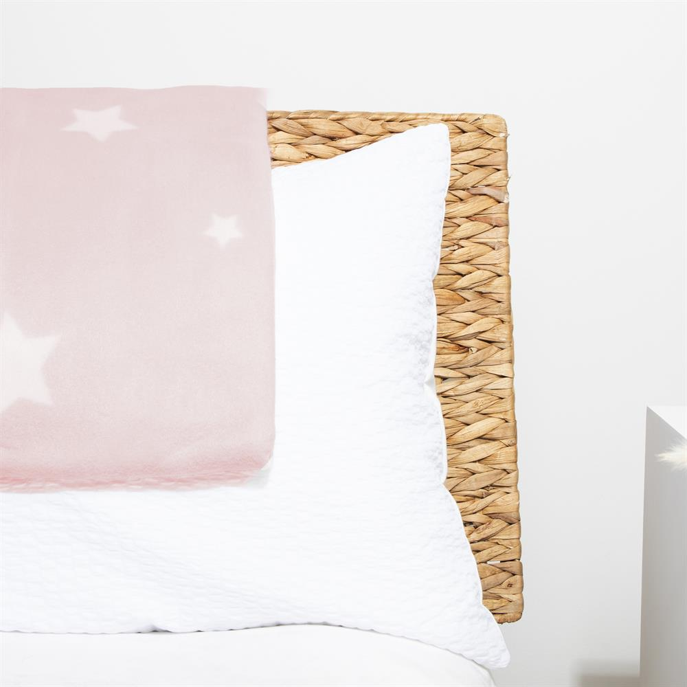 Picture of Home Collections: Printed Fleece Throw - Starry Pink