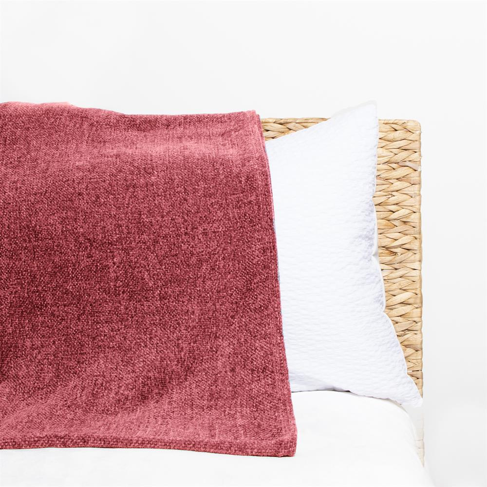 Picture of Home Collections: Large Chenille Throw- Terracotta