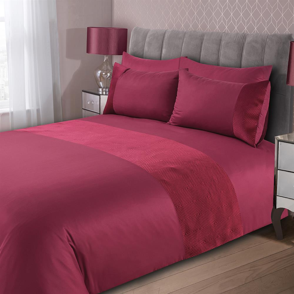Picture of Home Collections: Pinsonic Velvet Duvet Set - Mulberry