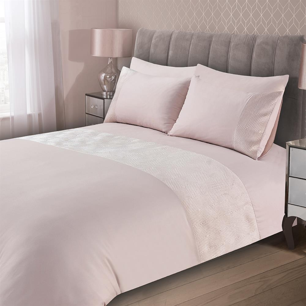 Picture of Home Collections: Pinsonic Velvet Duvet Set - Pink