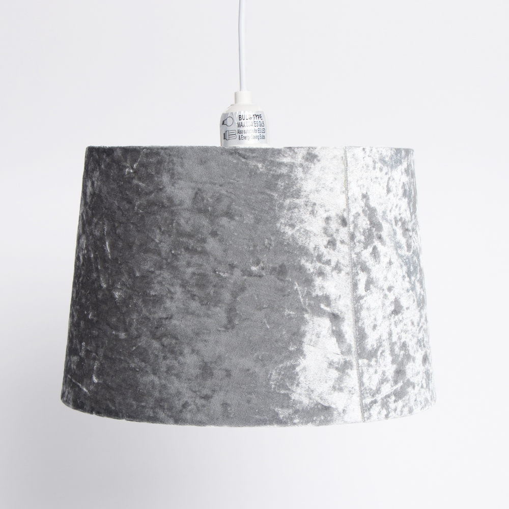Picture of Home Collections: Crushed Velvet Shade - Silver