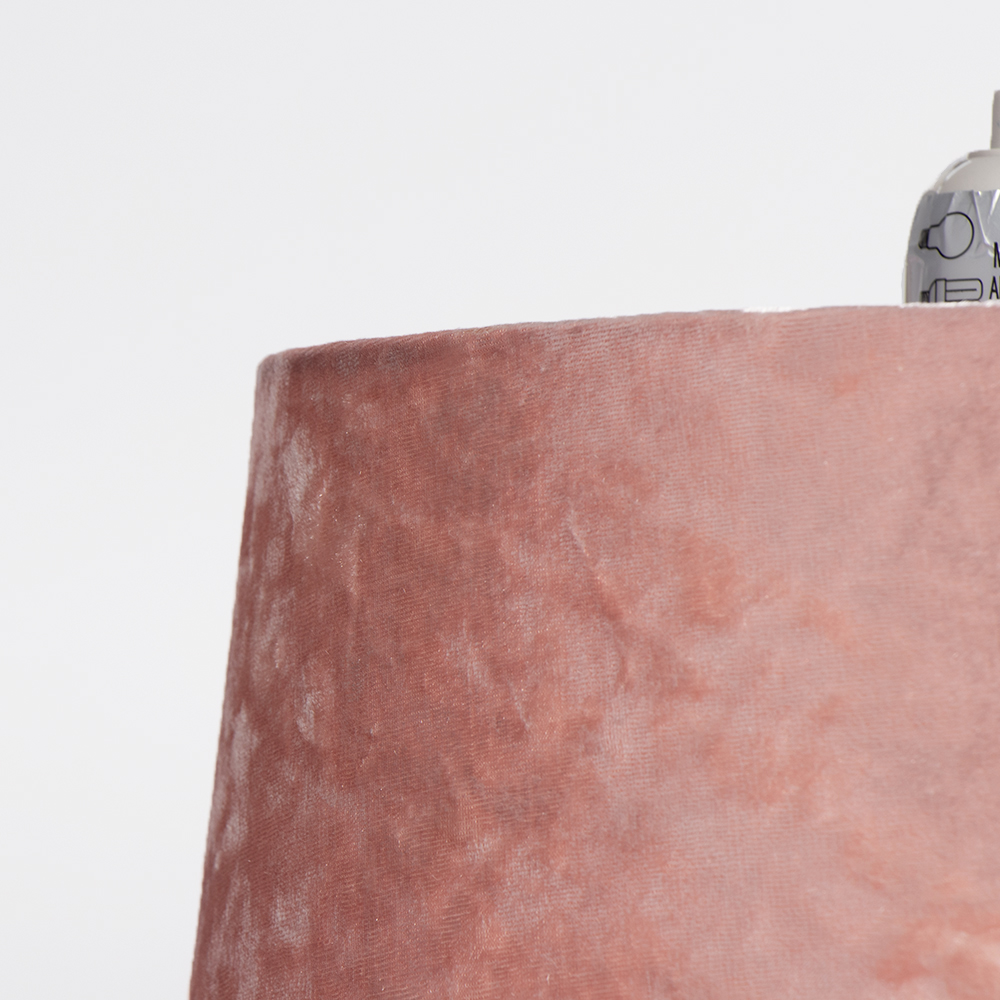 Picture of Home Collections: Crushed Velvet Shade - Pink