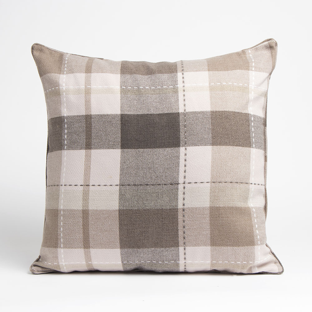 Picture of Home Collections: Large Check Cushion - Beige